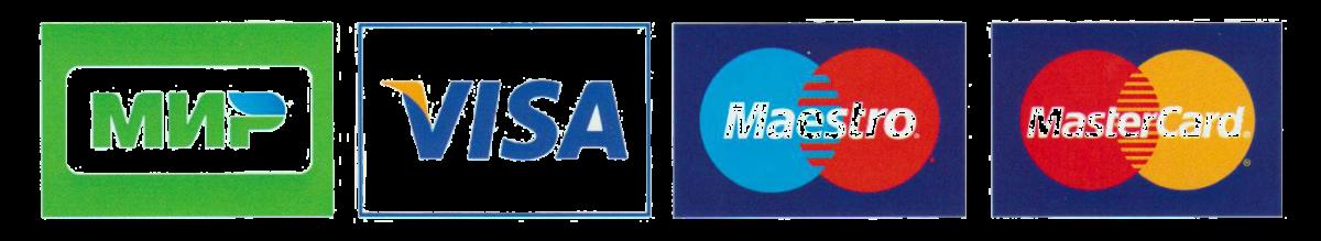 Visa MasterCard Maestro Mir банковские карты для оплаты